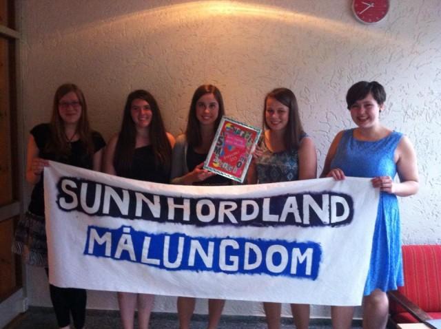 Sunnhordland Målungdom, årets lokallag 2013!